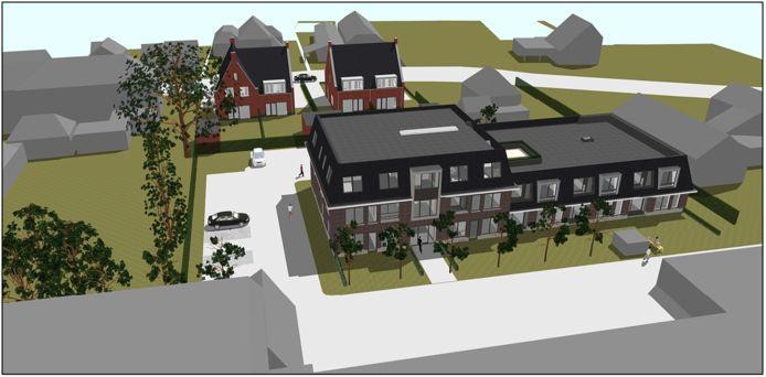 Een impressie van het woningbouwplan aan de Leijensteinstraat.