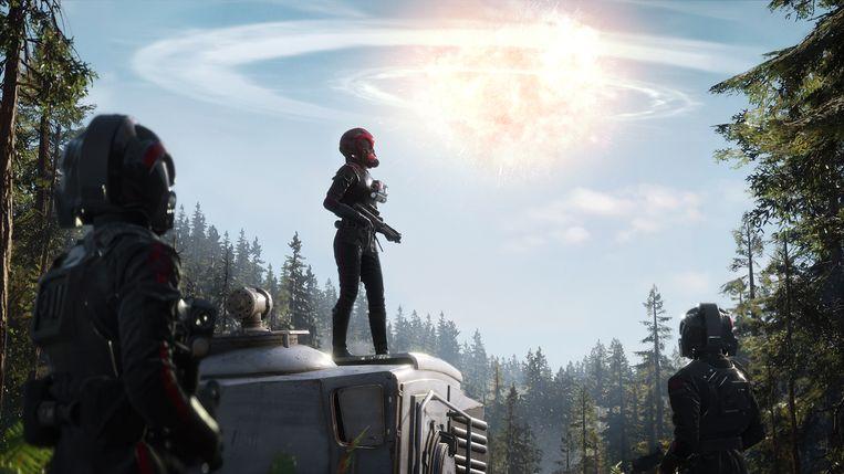 De explosie van de tweede Death Star aan het einde van 'Return of the Jedi' heeft in het verhaal van 'Battlefront II' een heel andere betekenis. Beeld Electronic Arts