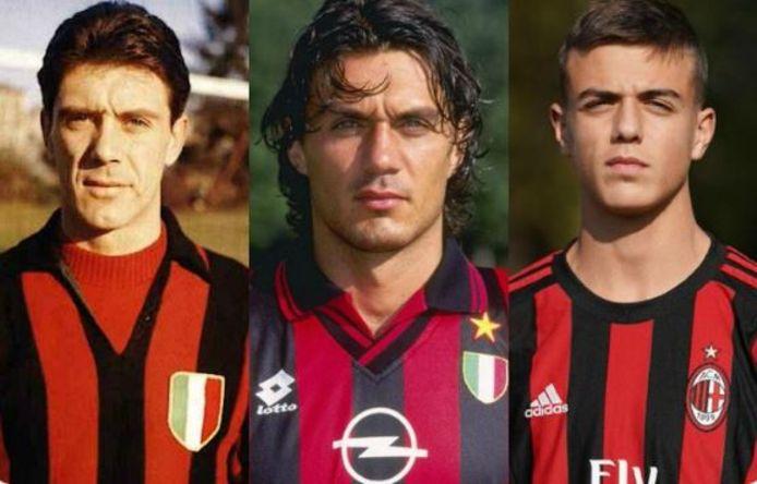 Cesare, Paolo et Daniel Maldini.