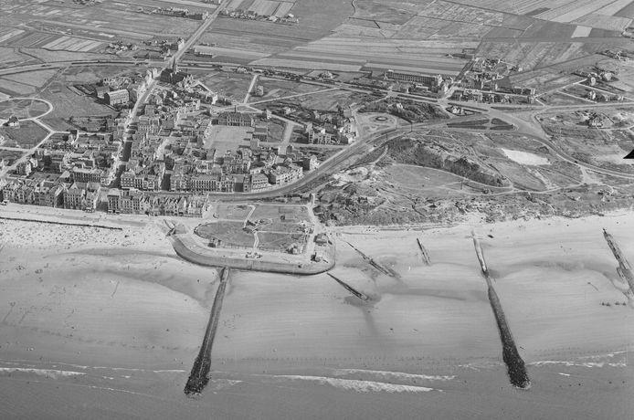 De kustlijn van Wenduine.