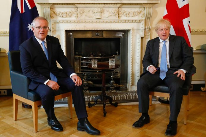 Boris Johnson et Scott Morrison