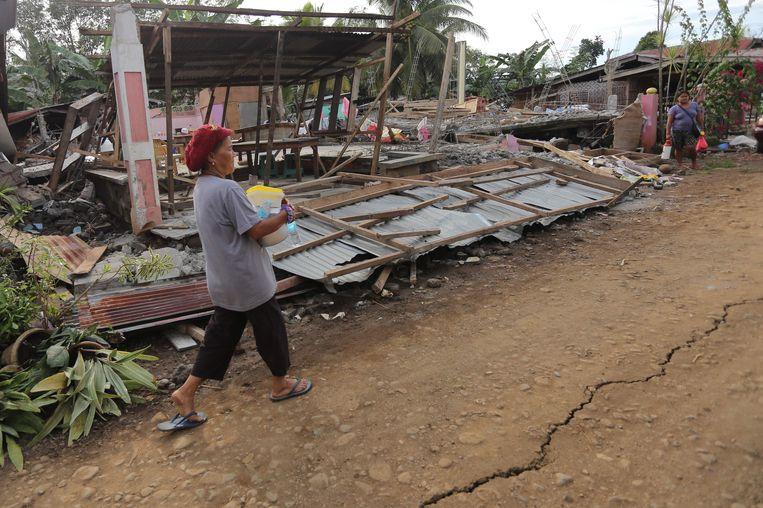 Twee dagen geleden werd de regio ook al getroffen door een aardbeving. Beeld AFP