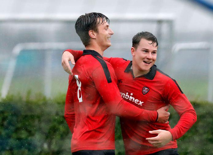 ZBVH viert een doelpunt in de derby tegen Goudswaardse Boys.