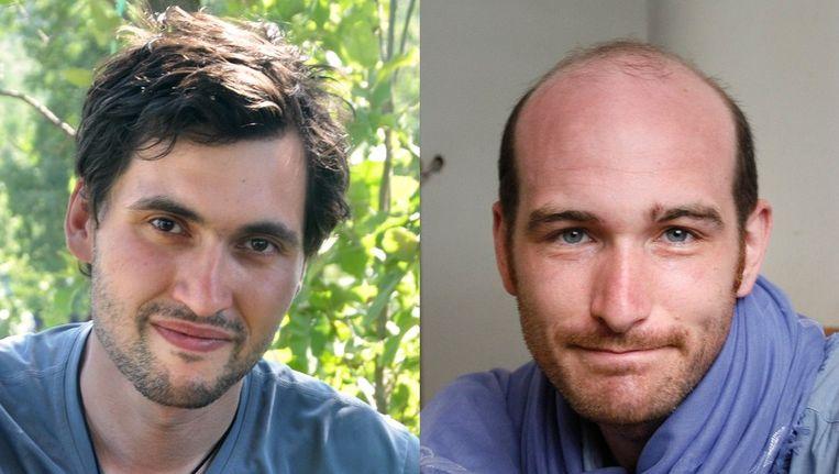 Pierre Torres (links) en Nicolas Henin. Beeld AFP