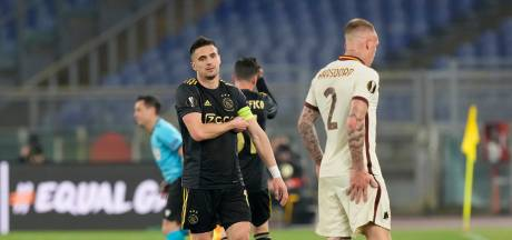 Ajax uitgeschakeld in Europa League na frustrerende avond in Rome
