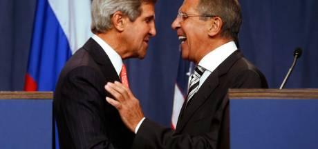 Topoverleg Kerry, Lavrov en Brahimi ter voorbereiding op vredesconferentie Syrië
