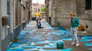 """Straatschilderingen in Sacramentstraat: """"Sint-Nicolaasplein aantrekkelijker maken"""""""