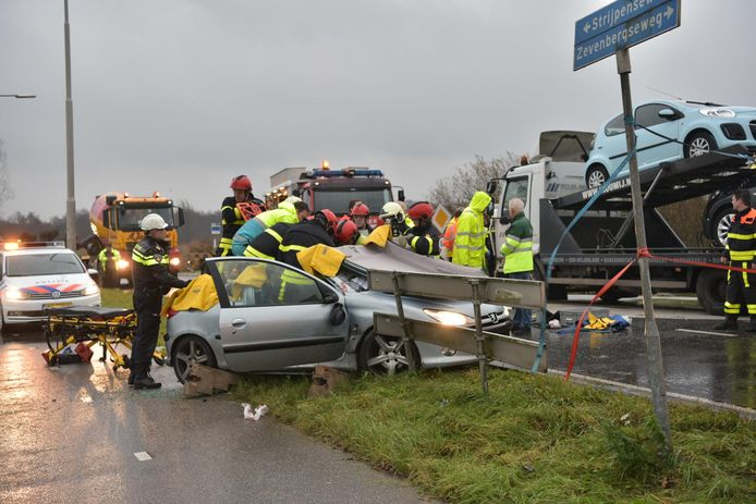 Gewonde bij ongeval op Zevenbergseweg naar Etten-Leur