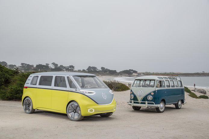 Een elektrisch eerbetoon: binnen een paar jaar brengt VW deze 'ID Buzz' personenbus op de markt.