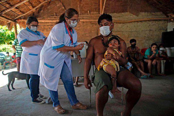 Le vaccin de Sinovac Biotech's inoculé à Marica, au Brésil