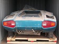 Zeldzame Lamborghini na veertig jaar teruggevonden in container