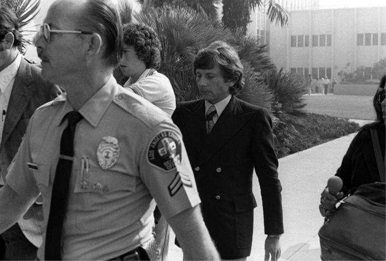 Polanski wordt voorgeleid in de zaak rond de verkrachting van de 13-jarige Samantha Geimer. 'Alleen Samantha en ik weten wat er die dag in 1977 is gebeurd. Maar wat ik ook heb gedaan, het was fout.' Beeld
