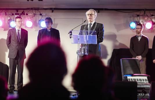 Van Aartsen tijdens zijn toespraak, afgelopen donderdag.