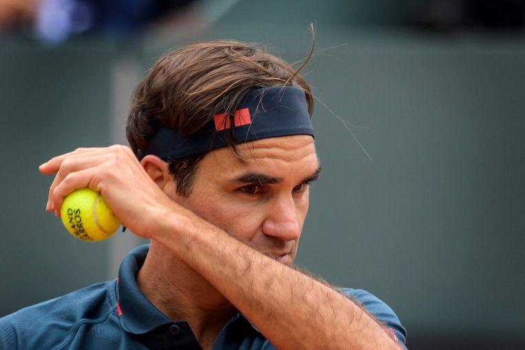 Roger Federer in Genève. Beeld AFP