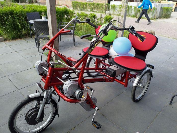 De nieuwe elektrische duofiets.