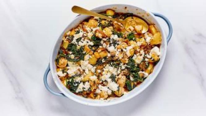 Gezonde ovenschotel met kip en feta maken van Sandra Bekkari