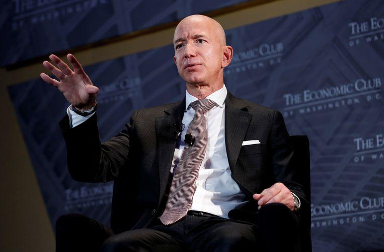 Jeff Bezos (Amazon) is voor het vierde jaar op rij de rijkste persoon op aarde, met een vermogen dat geraamd wordt op 177 miljard dollar (150 miljard euro). Beeld REUTERS
