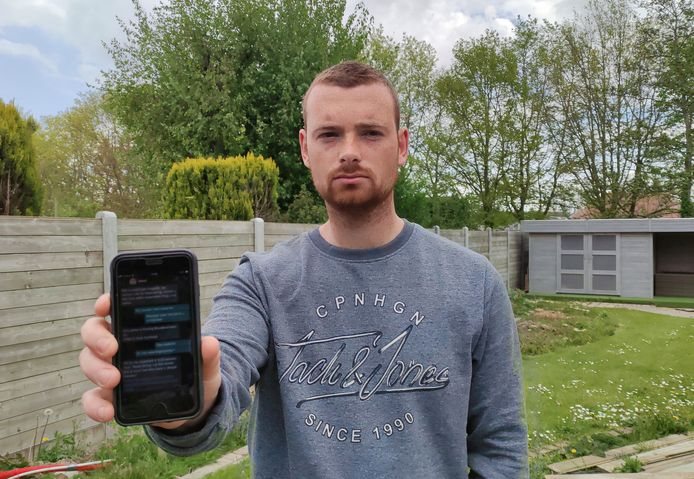 Jens Verschuere (26) uit Zwevegem wil andere mensen waarschuwen voor ogenschijnlijke betrouwbare transacties via het internet.