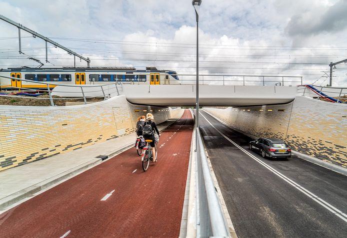 De nieuwe spooronderdoorgang bij 't Haantje is in gebruik genomen