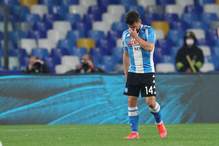 Dries Mertens is emotioneel na zijn goal. Beeld BELGAIMAGE
