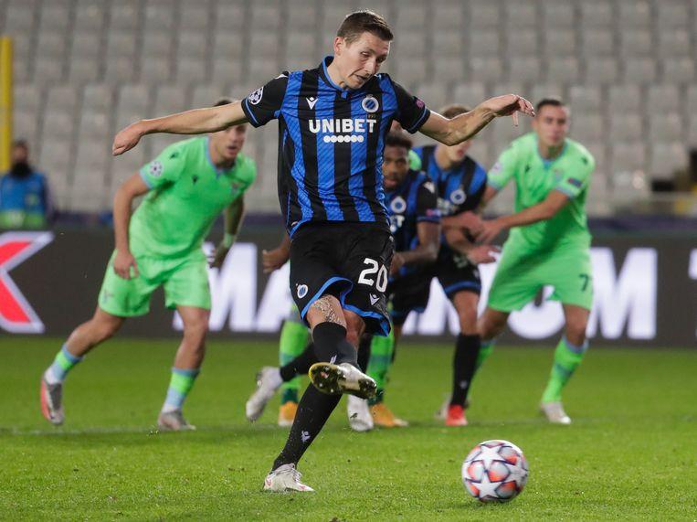 Hans Vanaken maakte zijn vierde goal in de Champions League. Beeld EPA