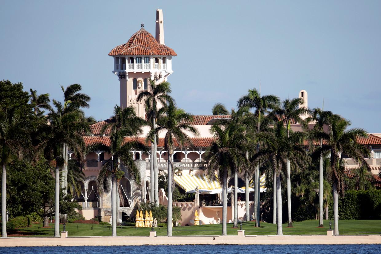 Mar-a-Lago, de club van Trump in Florida waar zijn gunsten gekocht kunnen worden. Beeld AP