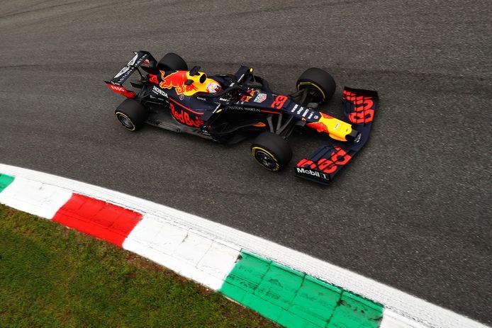 Max Verstappen tijdens de Grand Prix op het circuit van Monza op 8 september vorig jaar.