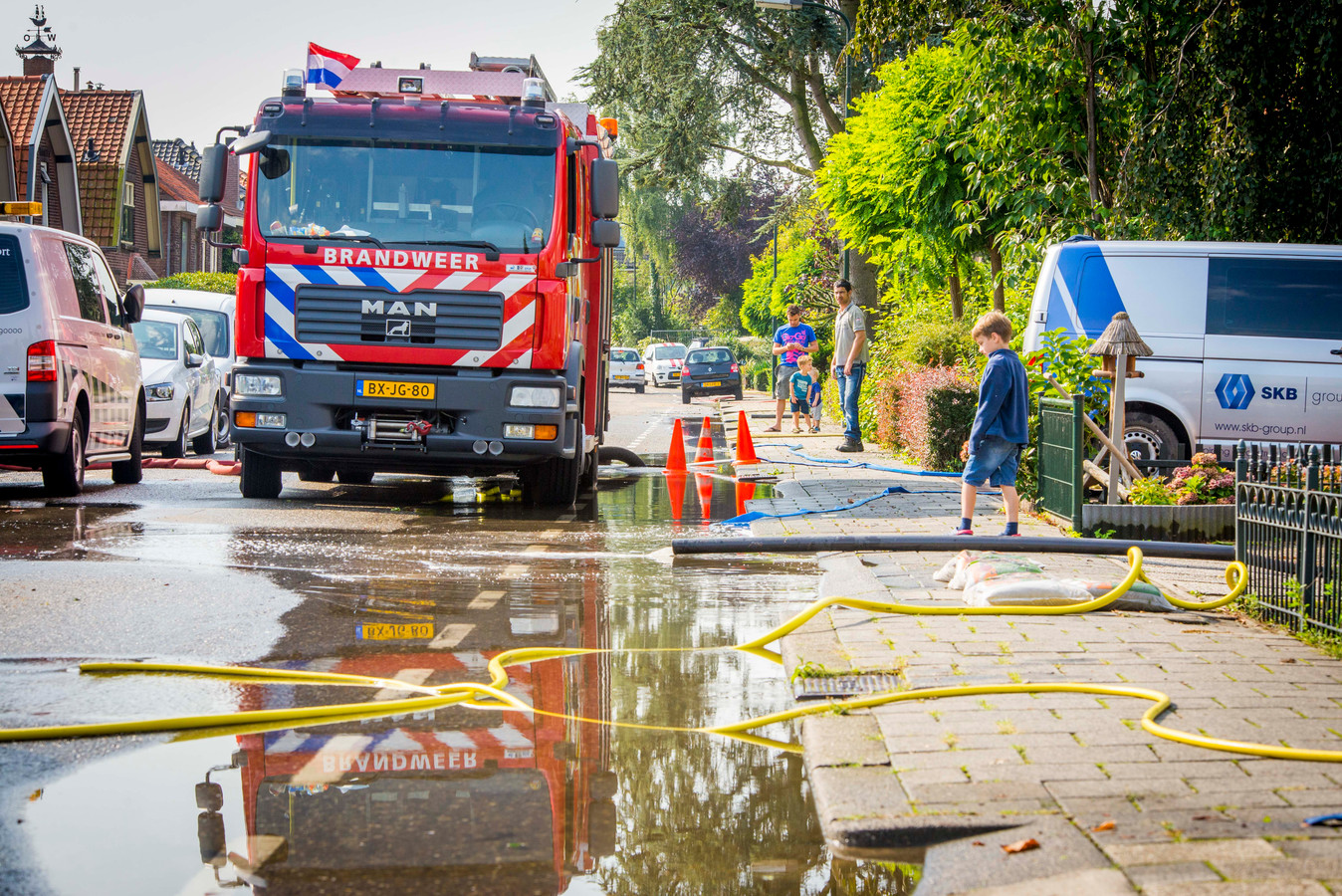 Wateroverlast in Hardinxveld-Giessendam in 2015.