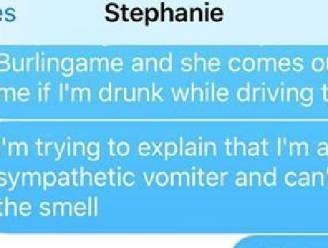 Zoontje braakt auto onder, hilarische papa roept mama's hulp in en verovert internet