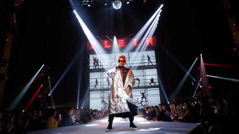 Rapper Future op de show van Philipp Plein.