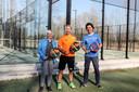 Cindy Mertens, Jos Geerinckx en Philippe Semal van TC Hof Ter Burst.