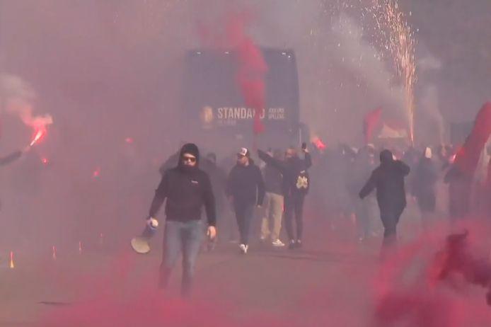 De spelersbus van Standard.