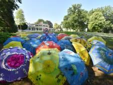 Paraplu-parade in park