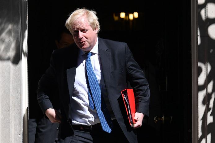 De Britse minister van Buitenlandse Zaken Boris Johnson.