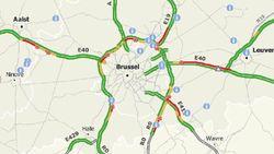 Zware ochtendspits: 1,5 uur aanschuiven op E40 in Bertem richting Brussel
