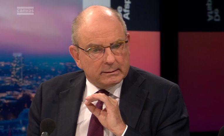 Minister van Justitie Koen Geens (CD&V) in De Afspraak. Beeld Canvas
