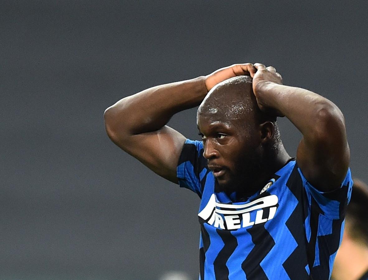 Romelu Lukaku is met Inter uitgeschakeld in de Copa Italia.