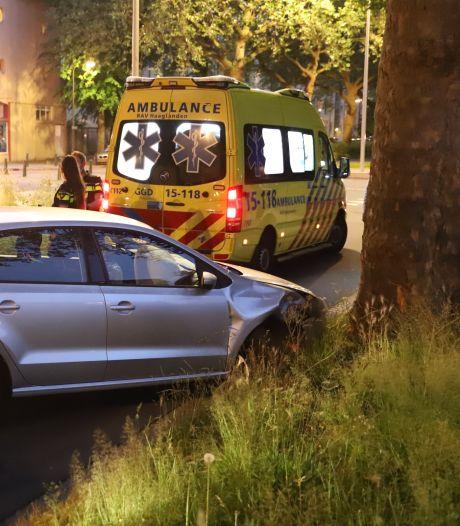 Automobilist rijdt tegen boom aan op de Moerweg