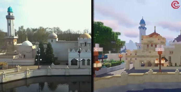 De Efteling is als 'Dronevlucht' in Minecraft nagebouwd.
