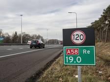 Vier auto's op elkaar gebotst op A58 bij Oirschot