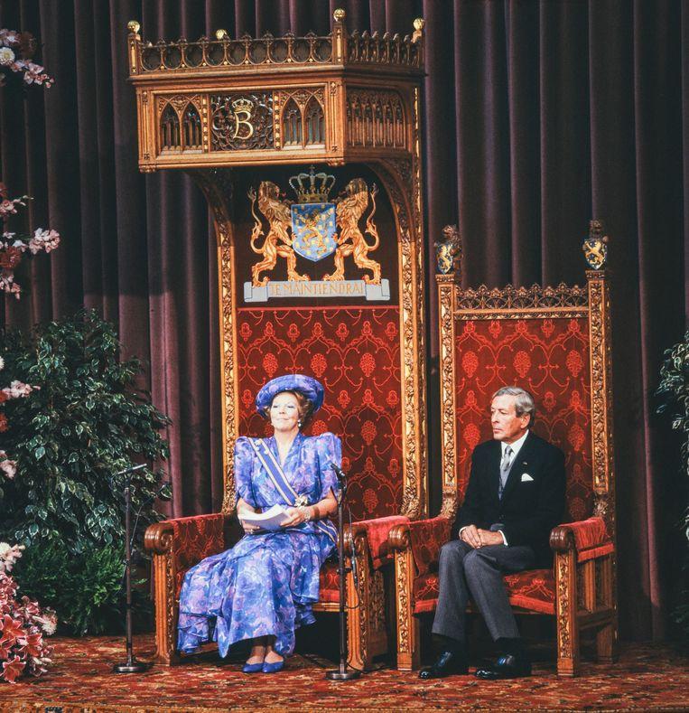 Prinsjesdag 1989. Beeld Hollandse Hoogte / Nationaal Fotopersbureau