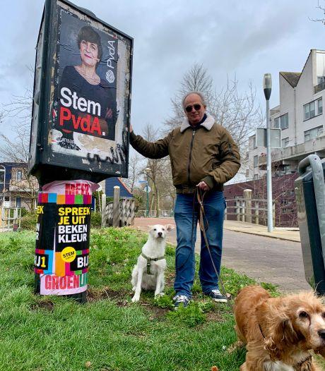 Verkiezingsposteroorlog in Molenvliet: 'Soms twee keer per dag een nieuwe poster'