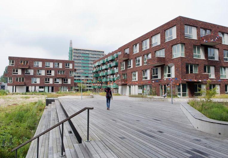 Drie jaar geleden mochten op Uilenstede nog wel nieuwe studentenwoningen worden gebouwd, volgens dezelfde regels. Die vervingen deels oudbouw. Beeld Sanne Zurné