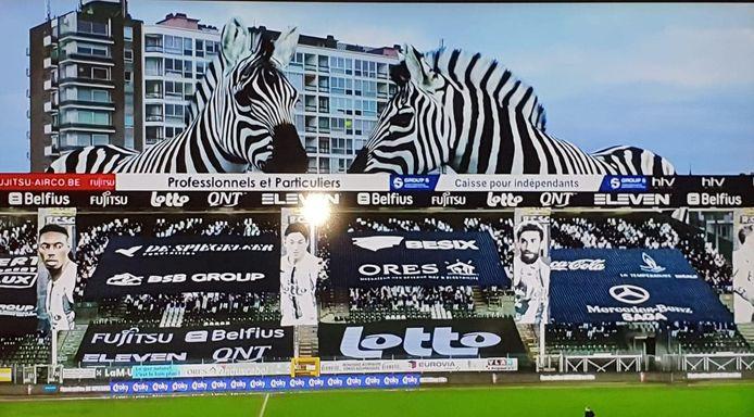 La réalité augmentée pour combler le manque de spectateurs lors du match de Coupe de Belgique entre le Sporting Charleroi et Westerlo