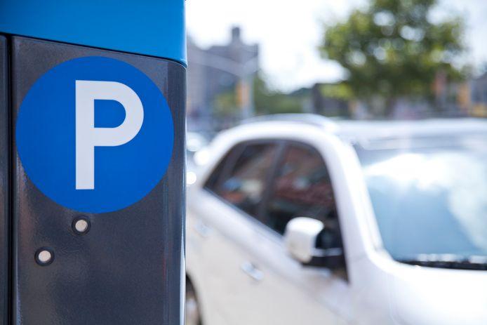 betaald parkeren paid parking parkeerplaats stock
