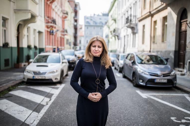 Zuzana Čaputová in Bratislava, Slowakije. Beeld Bloomberg via Getty Images