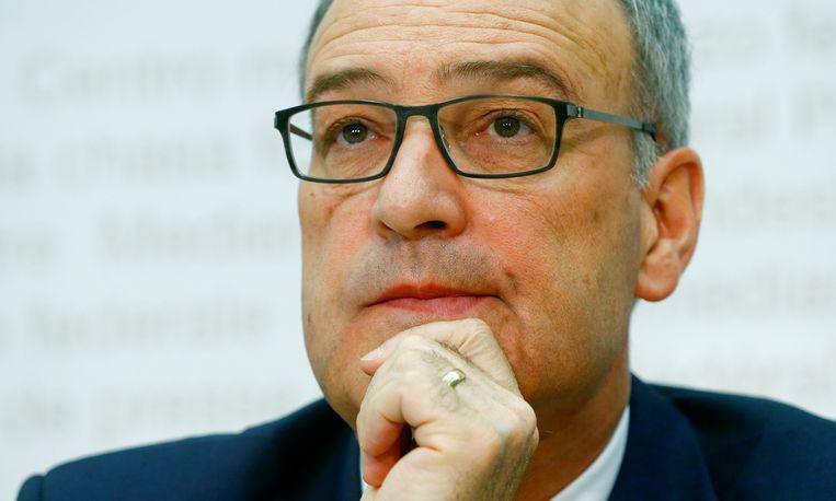 De Zwitserse defensieminister Guy Parmelin. Beeld REUTERS