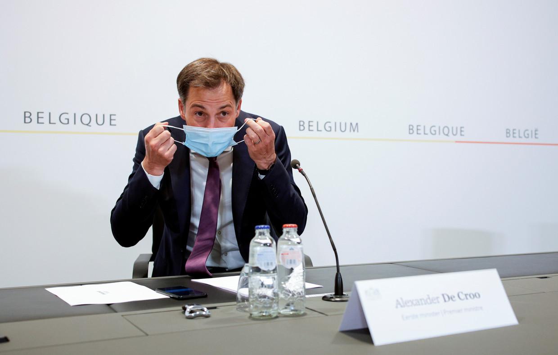Premier Alexander De Croo (Open Vld). 'Het gaat nu razendsnel met de vaccins.' Beeld REUTERS