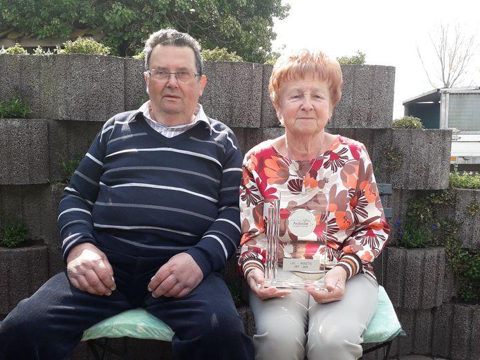 Luc en Rosette zijn al 50 jaar gelukkig getrouwd en hopen er nog vele jaren bij te doen.