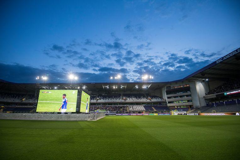 Het Constant Vanden Stockstadion in Anderlecht. Beeld BELGA